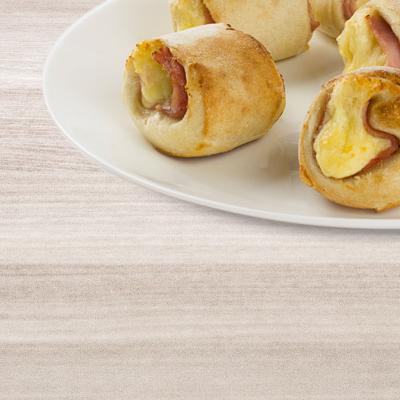 Snack-Rollis mit Hinterschinken